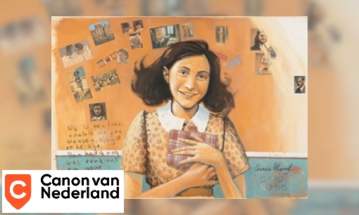 Plaatje Vensterplaat Anne Frank